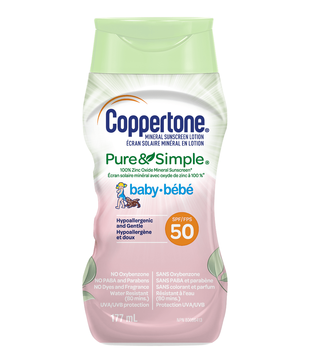 Coppertone_Pure and Simple_Baby_SPF50_177ml_Shrinkshleve_Bilingual_FOP_08_2020