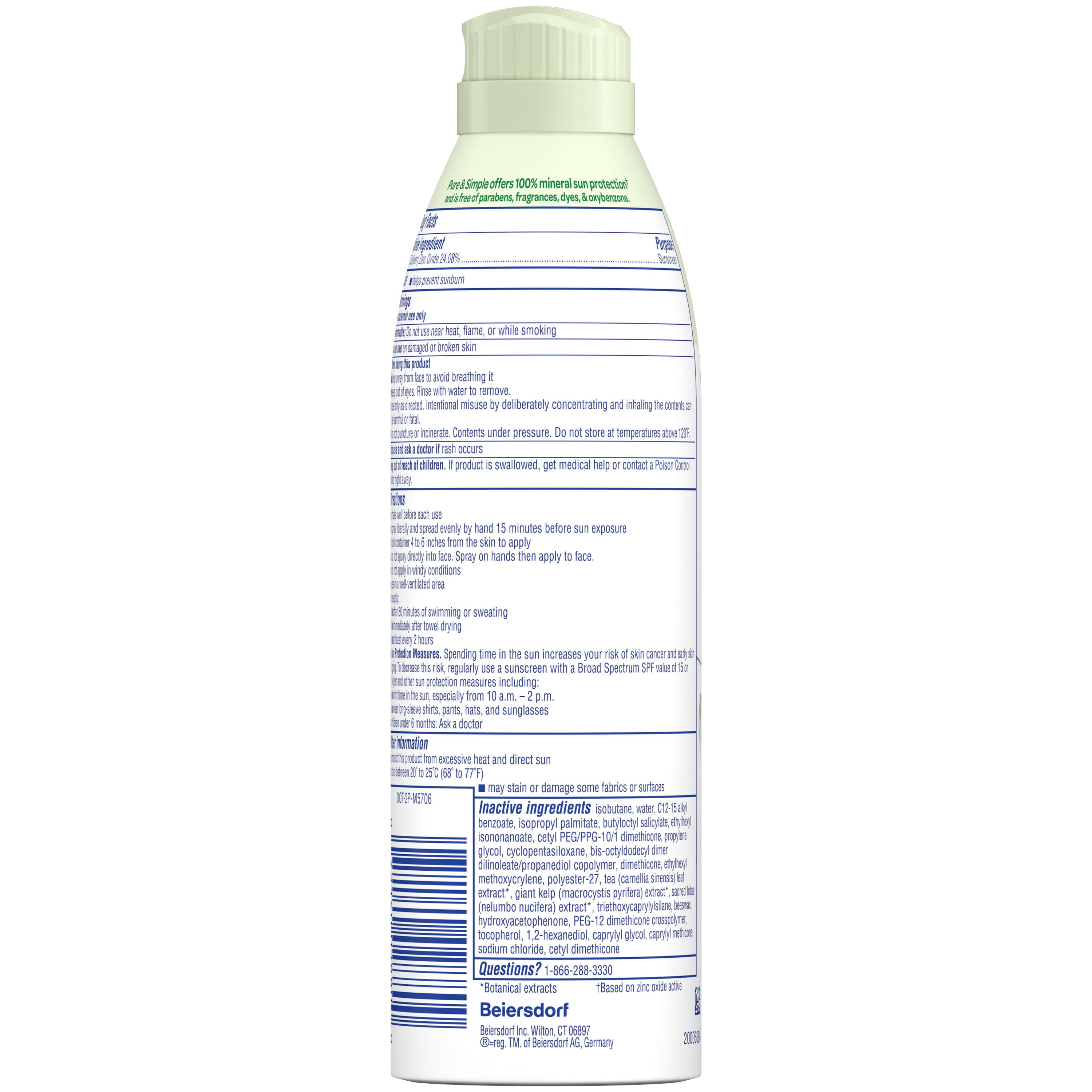 Pure and Simple SPF 50 Sunscreen Spray