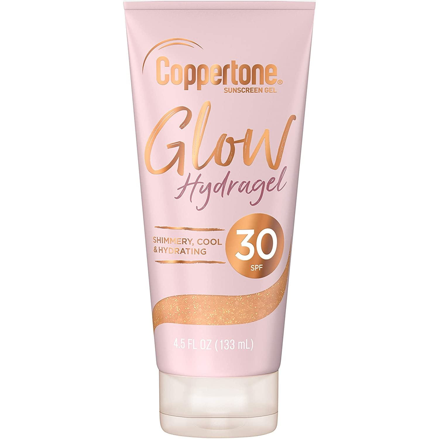 Coppertone Glow Hydragel SPF 30 Sunscreen Lotion with Shimmer