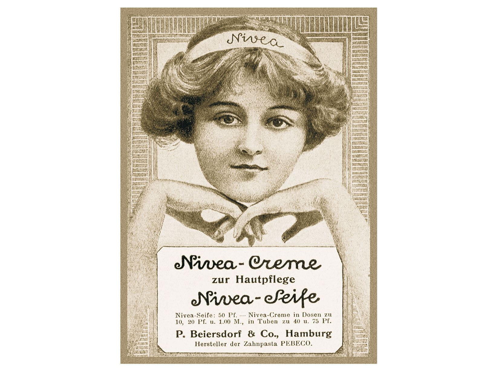 nivea creme in 1911 and 1912