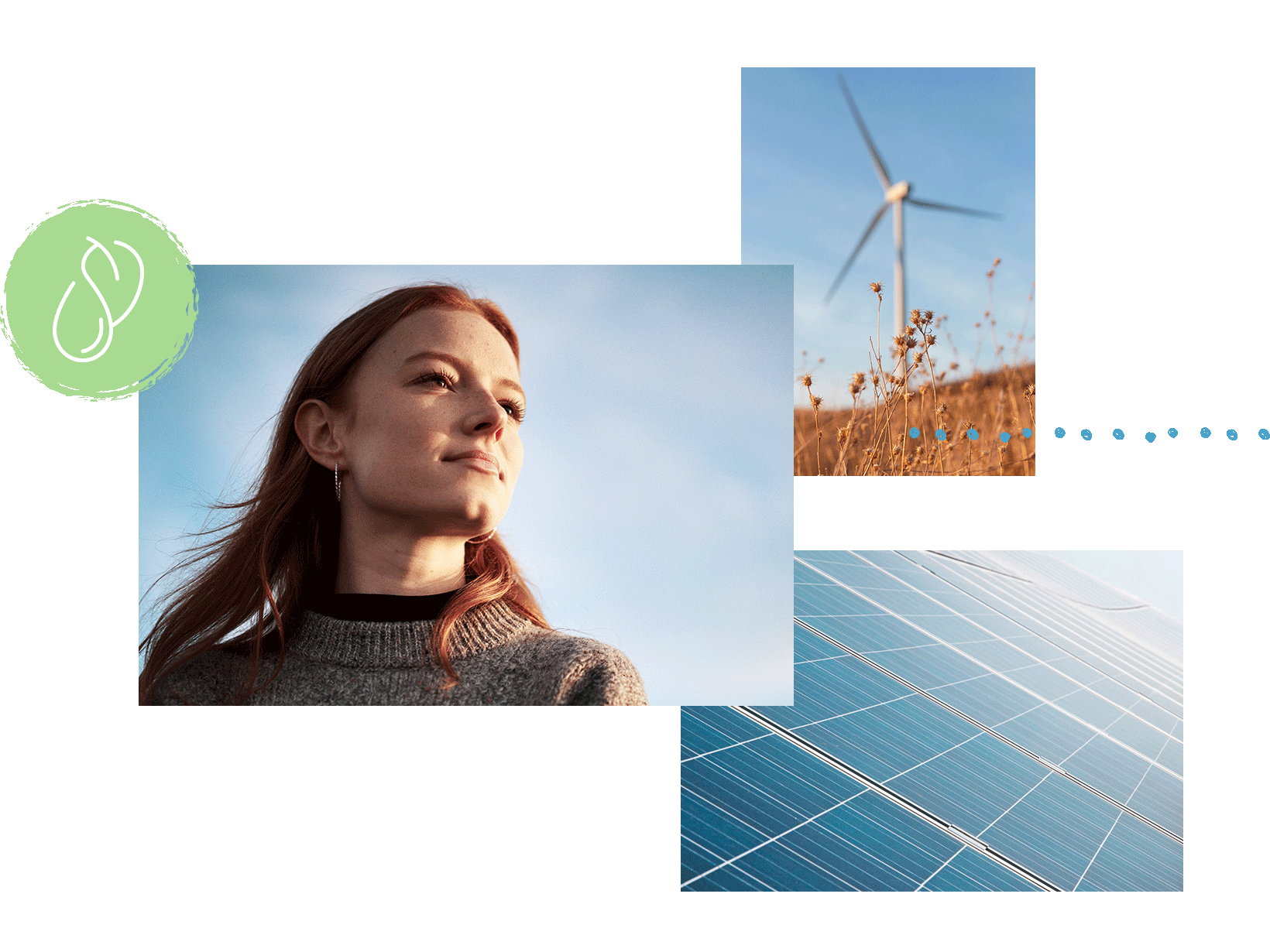onlooking-woman-wind-turbine-solar-panel