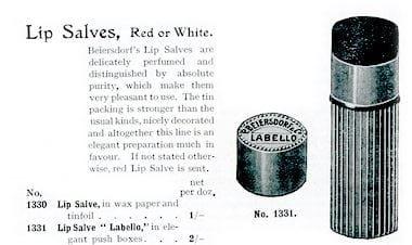 1911, Lista de Preços do Reino Unido