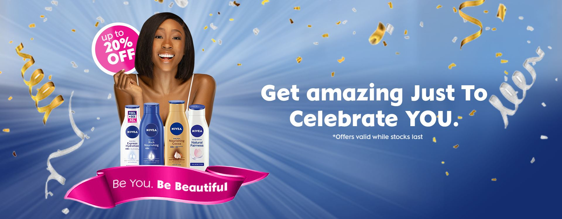 20% off! Beauty Month Is Back, Celebrate You