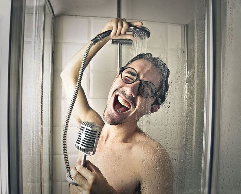 showering helps reduce body odor